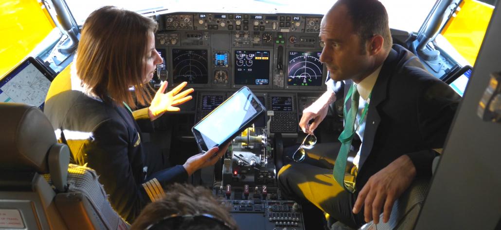 tournage dans le cockpit