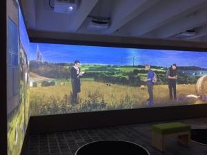 vidéo projetée pour l'exposition